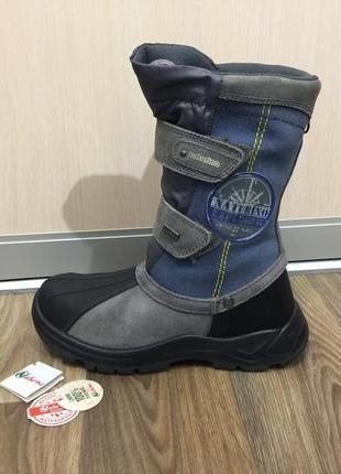Сапожки ботинки зимние сапоги черевики апрески naturino р.37 (23см)