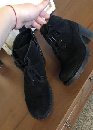 Замш замшевые ботинки