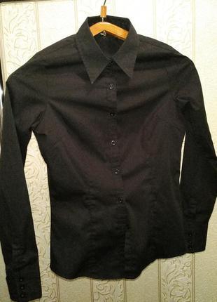 Черная, классическая рубашка s