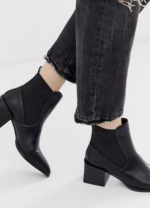 Ботинки чёрные демисезонные новые челси