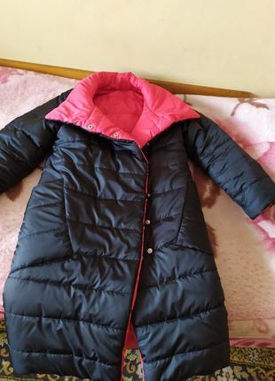 Куртка зимняя пуховик одеяло двусторонняя