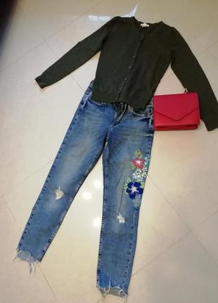 Джинсы zara, свитер и сумка
