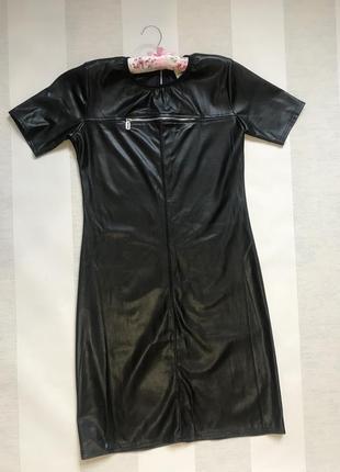 Платье эко-кожа. на змейке.
