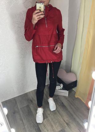 Красный анорак/ дождевик/куртка от new look
