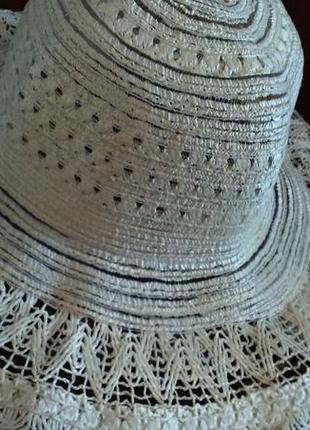 Шляпа пляжная новая светло-бежевая