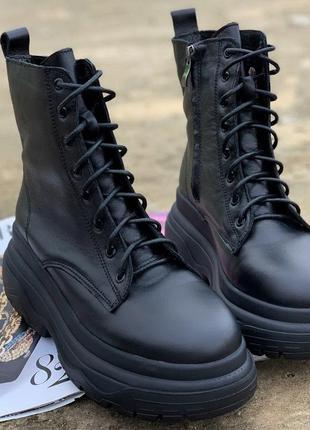 Рр 38,39 зима по скидке последние размеры натуральная кожа трендовые ботинки