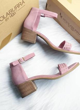 Koolaburra by ugg замшевые розовые босоножки на удобном каблуке