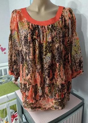 Нарядная шифоновая блуза от marks&spencer, 16 размер