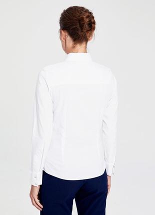 Белая женская рубашка lc waikiki / лс вайкики на пуговицах с кристаллами2 фото