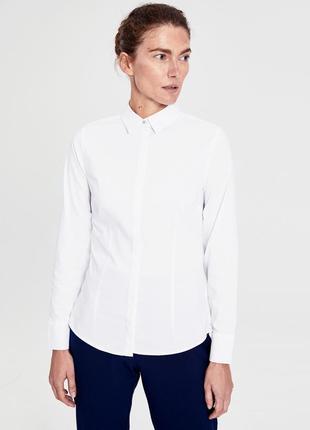Белая женская рубашка lc waikiki / лс вайкики на пуговицах с кристаллами3 фото