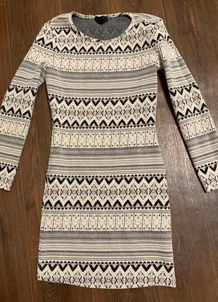 Стрейчевое зимнее платье topshop