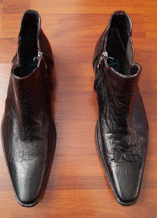 Pepe milan крокодиловые туфли.