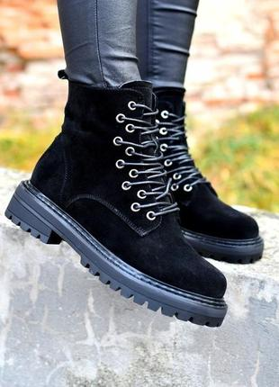 Замшевые демисезонные ботинки, ботинки натуральная замша 36-40р