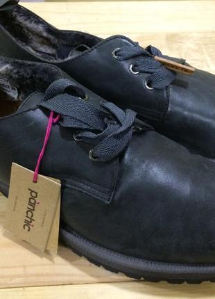 Новые шикарные зимние туфли ботинки на натуральном меху panchic, vibram