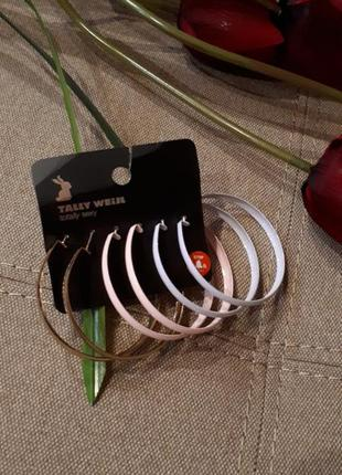 Серьги tally weijl кольца сережки серёжки