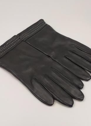 Кожаные перчатки по типу zara