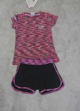 Набір літній для дівчаток футболка + шорти