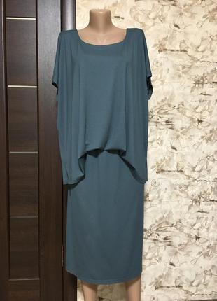 Оригинальное трикотажное платье,вискоза ulla popken