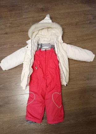 Зимний комплект комбинезон lenne размер 98