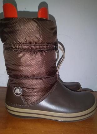 Сапоги зимние crocs crocoband winter boots