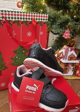 Детские кроссовки для девочки puma vista glits v 10c,пума