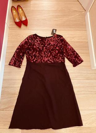 Новое платье бордовое