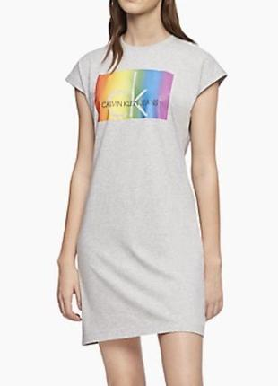 Платье-футболка, calvin klein, кельвин кляйн, оригинал, размер l.