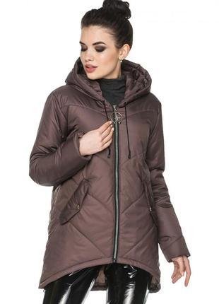 Демисезонная мокко коричневая куртка