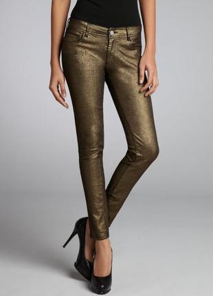 Бронзовые брюки zara
