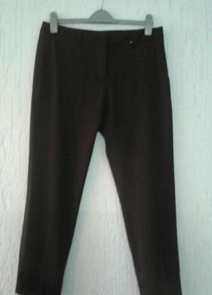 📌шерстяные эластичные зауженные брюки с высокой посадкой piazza sempione📌
