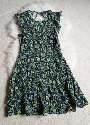 Цветочное вискозное платье next