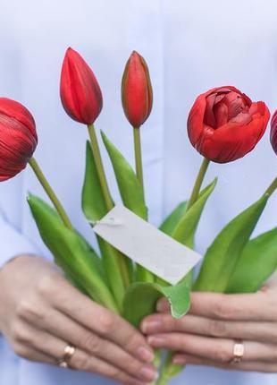 Букет пионовидных тюльпанов 3+2
