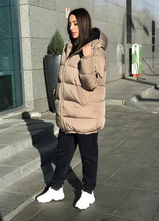 Пуховик женский зимний теплый