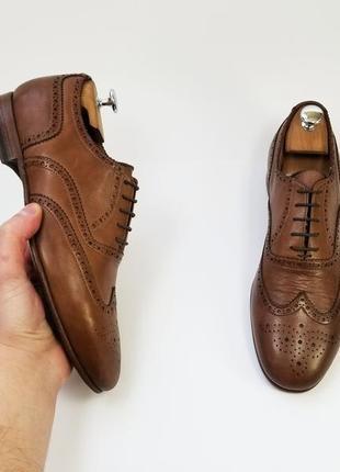 Sturlini made in italy кожаные туфли броги оксфорды коричневого цвета 41 42