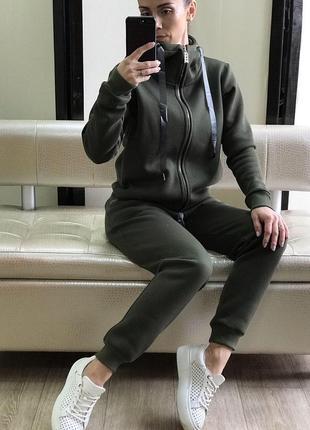Спортивный костюм женский теплый  трехнитка-флис