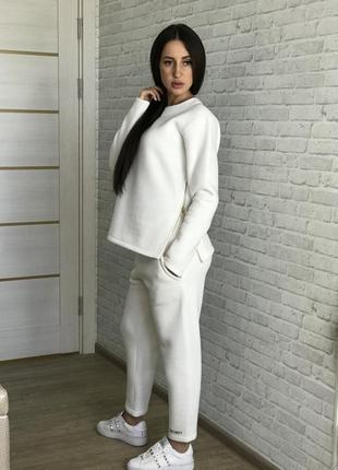Спортивный костюм женский трехнитка-флис  трикотажный