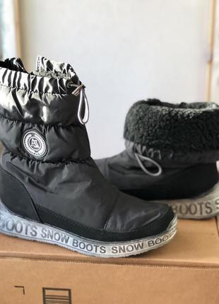 Зимние чёрные дутики 36- 39
