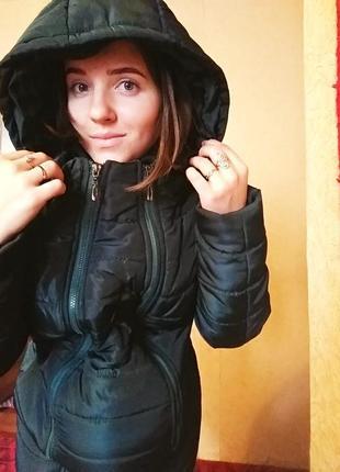 Пуховик, курточка для беременных 3 в1