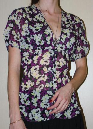 Шифоновая блуза topshop