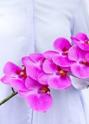 Орхидея девять соцветий (силикон)