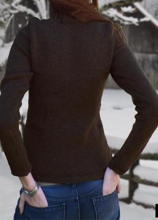 Джемпер шоколадного цвета,хлопок,от esprit