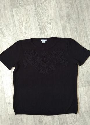 Шикарная футболка h&m с вышивкой