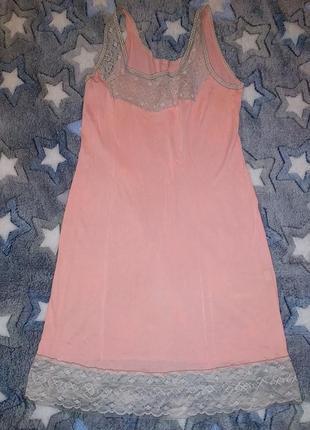 Винтаж ,рубашка нижняя, пеньюар, комбинация, чехол под платье, розово-лососевый