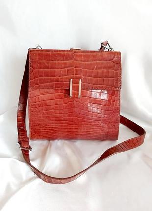 Кожаная сумка mazzini италия кожа женская