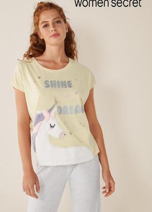 Стильная пижама с пушистым единорогом s, m от women'secret