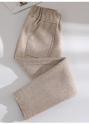Зимние теплые шерстяные штаны