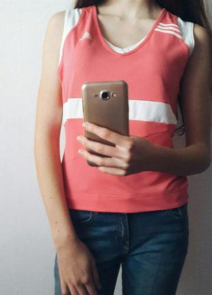 Спортивная тренировочная фитнес майка футболка топ тениска поло adidas