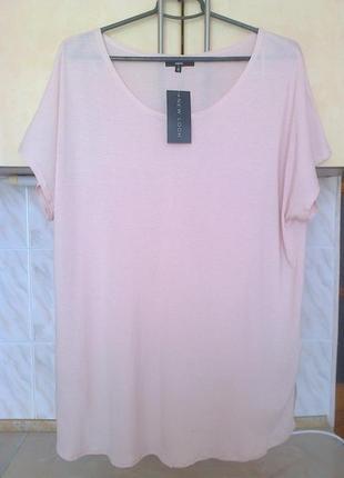 Новая блуза футболка цвет пудра этикетка вискоза удлин спинка бохо