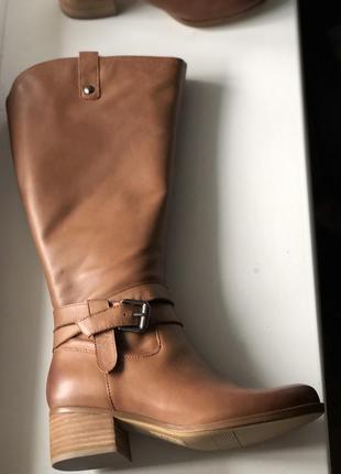 Сапоги из натуральной кожи бренд на каблучке с широким голенищем hot price 🔥🔥🔥4 фото
