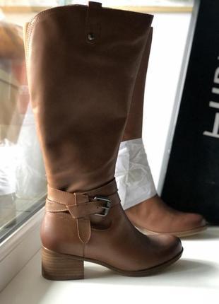 Сапоги из натуральной кожи бренд на каблучке с широким голенищем hot price 🔥🔥🔥3 фото